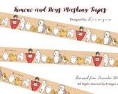 ONE Masking Tape -Kimono Girl & Dogs- Designed by Krimgen