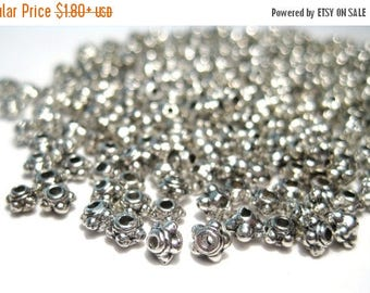 50% OFF Clearance Sale-- Antique Silver Metal Spacer Beads 3.5mmx2mm