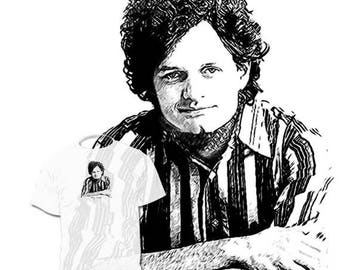 40% OFF Sale Harry Chapin T shirt  Drawing of your favorite is available