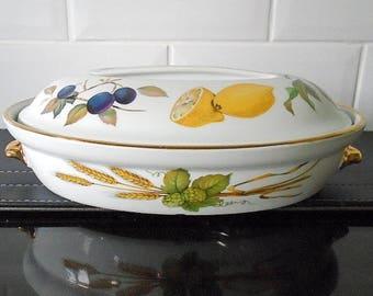 Royal Worcester Evesham Oval Lidded Casserole Dish