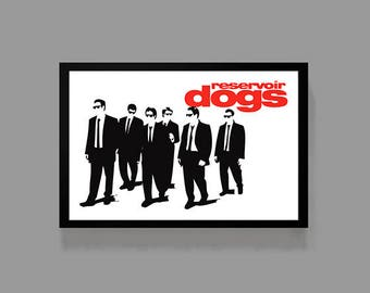 Reservoir Dogs Poster - Quentin Tarantino Print - Movie Cult Classic Crime Drama Film 90's