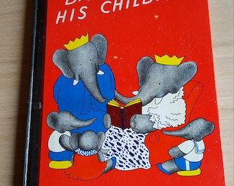 Babar and his Family by Jean DeBrunhoff (1938) - PRICE INCLUDES SHIPPING