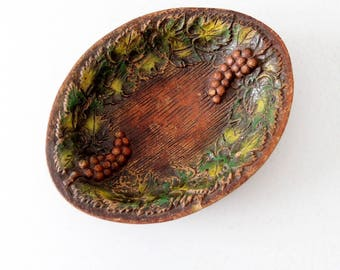 mid century composite wood bowl, Multi Products Inc decorative bowl