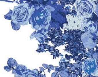 Fabric - Art Gallery -  In Blue Bloesem Royal - cotton print.