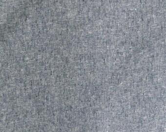 Fabric - Robert Kaufman - Essex Yarn dyed linen/cotton - Indigo - medium weight woven.