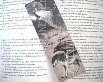 Bookmark werewolf black winged Moon