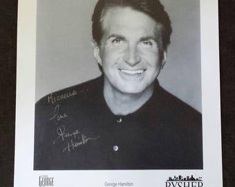 Authentic Genuine~GEORGE HAMILTON Hand Signed Autograph B&W 8X10