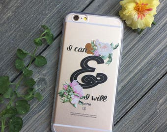 Can and Will iPhone Case, Your choice of Soft Plastic (TPU) or Wood