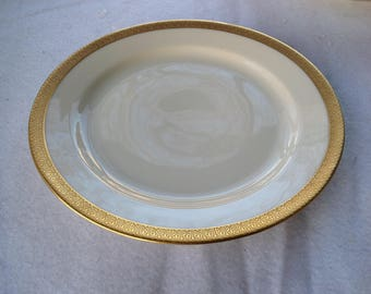 "Vintage 1920's  Tirschenreuth P.T. rare ""The Bray"" Gold encrusted Bavarian china bread butter plates"