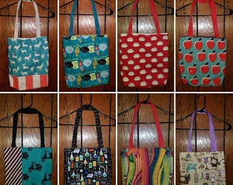 Cute simple totes - various patterns