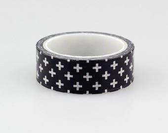 Black & White washi tape with crosses/Planner accessories
