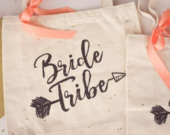 Bride Tribe Tote, Bachelorette Party Bags, Bride Tribe Bags, Bridesmaid Totes