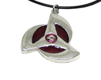 "Naruto Emblem Necklace 16"" Black Cord"