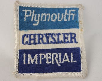 Plymouth Chrysler Imperial Dealer Uniform Service Patch