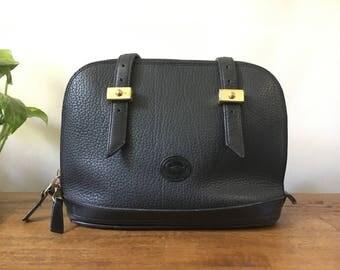 Vintage Dooney & Bourke Shoulder Purse / Vintage Black Leather Purse
