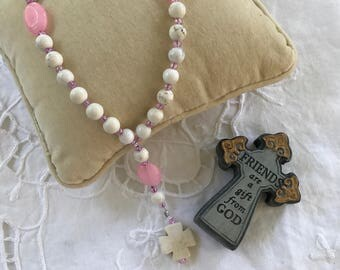 Protestant Prayer beads, breast cancer survivor, Anglican prayer beads, prayer beads for moms, prayer beads for breast cancer