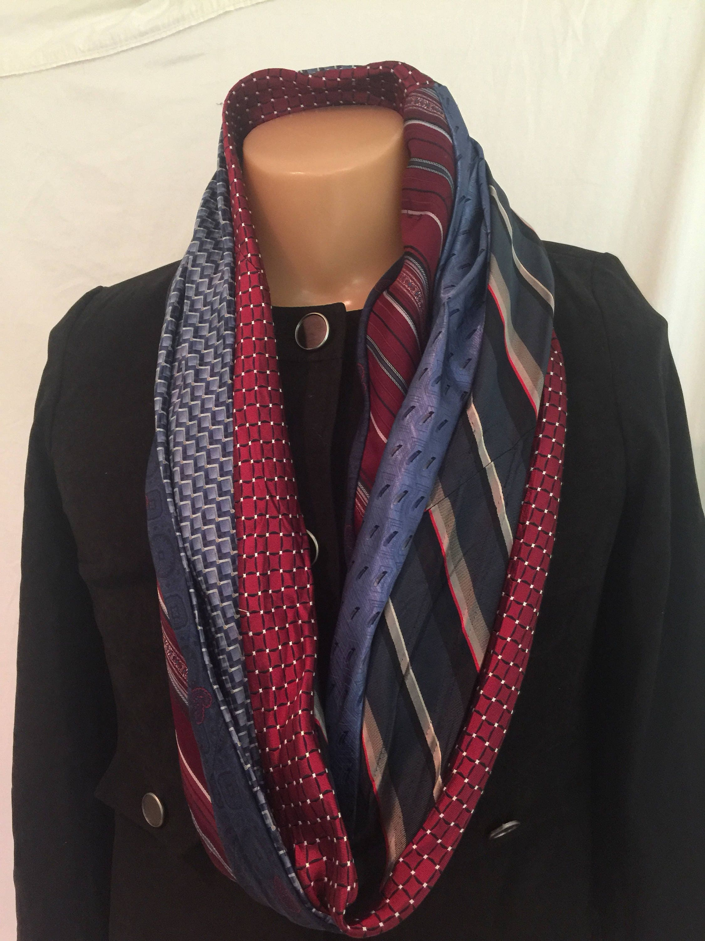 knit cowl scarf s fullxfull chunky infinity p snood for il circle mens men terracotta