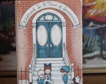 Vintage Children's Book Childhood is a time of innocence by Joan Walsh Anglund, Decorative Book, Illustrated book,1966