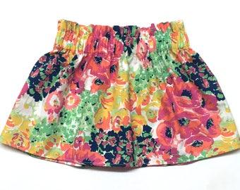 Fall Floral Skirt, Fall Skirt, Flower Skirt, Baby Girl Skirt, Baby Skirt, Toddler Skirt, Girls Skirt, Baby Girls Skirt, Flowers, Fall Flower