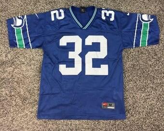 KIDS Women's XS Vintage 90's Ricky Watters Old Logo Seattle Seahawks Jersey size Youth Medium
