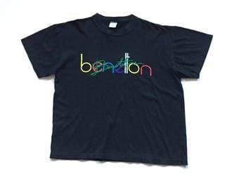 United Colours of Benetton Deadstock Short sleeve t shirt size Medium Benetton Spellout t shirt tee 80s 90s M Men's Medium