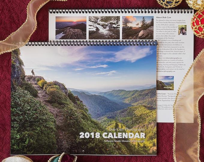 2018 Smoky Mountain Photo Calendar