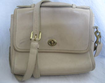 White Leather Coach Crossbody 9870