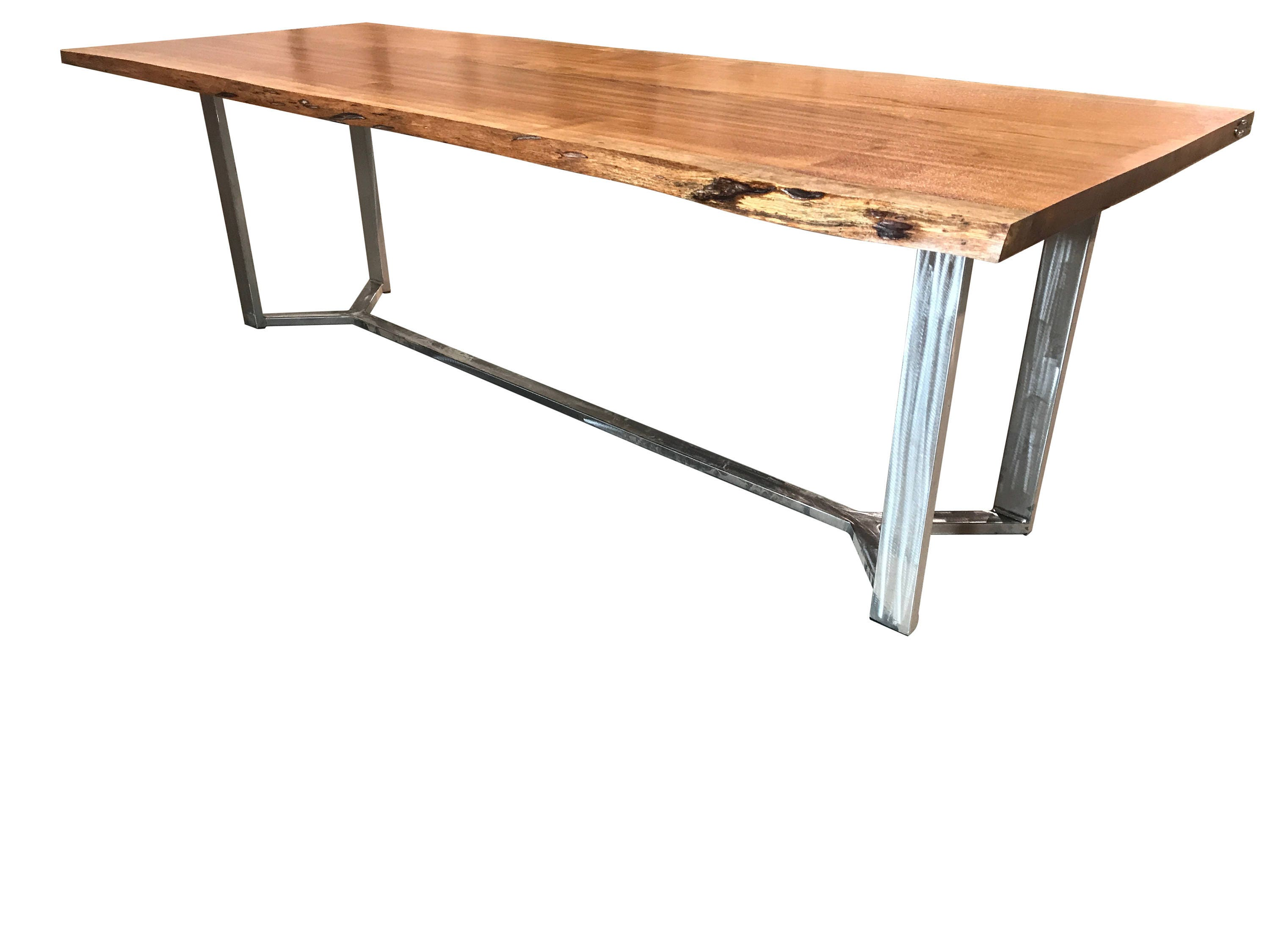 Live edge dining Table, Brazilian cherry Dining Table with custom base FREE SHIPPING