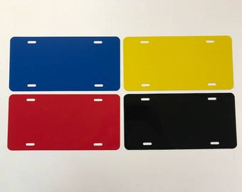 """1- License Plate Blank / Colors 6""""x12"""" .040 Aluminum"""