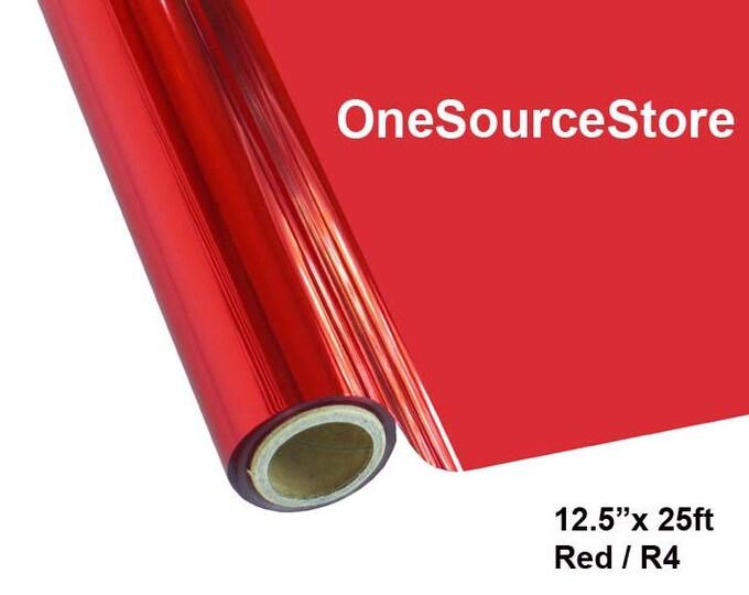 "HTV Textile Foil / 12.5 ""x 25 ft / Red / R4"