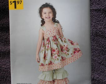 Simplicity A1533 Childs Dress And Pants Size 3 - 8