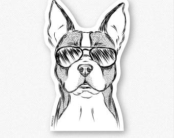 Scout the Boston Terrier - Boston Terrier Decal Sticker, Boston Terrier decal, Gifts For Dog Owner, Boston Terrier sticker, Boston Terrier