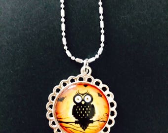 OWL CAMEO NECKLACE Mad March Sale!