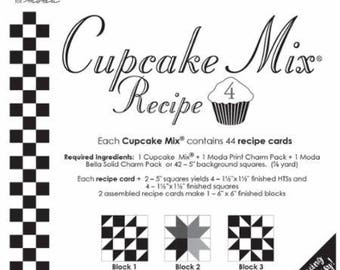 Cupcake Recipe Cards - Miss Rosie's Quilt Company Patterns for Charm Packs Set #4