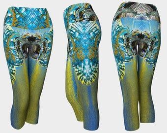 09134 Yoga Capri: Under the Bridge Photography. Yoga Leggings, Yoga Pants, Yoga Tights, Running Tights, Leggings