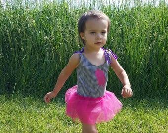 Melting Ice cream Bodysuit -ice cream- melting ice cream - leotard -toddler -hot pink
