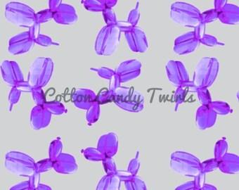 Purple Balloon Pup Tank Pre-order - balloon - balloon animal - Balloons  - organic cotton - organic fabric - organic - cotton candy twirls