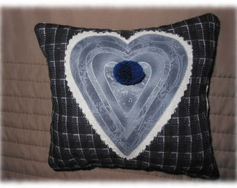 Small decorative heart pillow