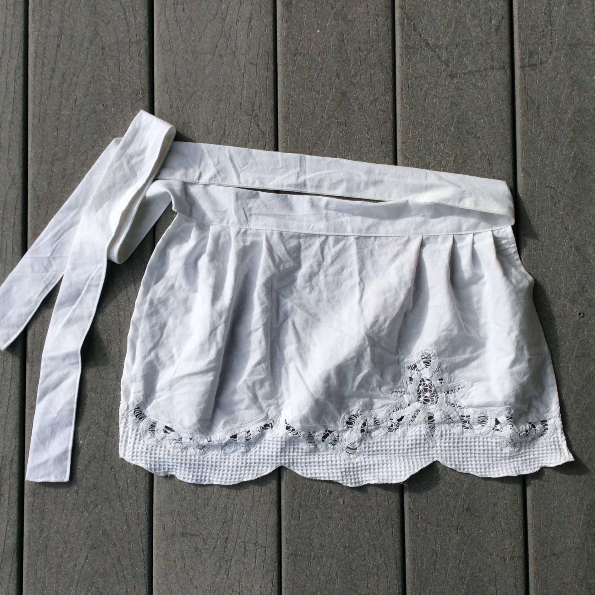 White half apron, Cute Cotton apron, Christmas Gift idea for Mother ...