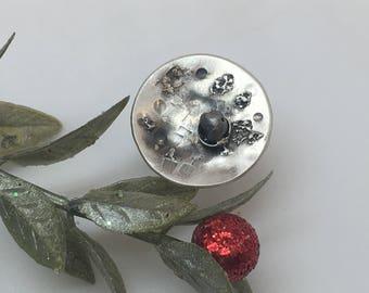 Hat pins - cap pin - decorative pins - lapel pin - meteorite - mens suit pins - custom hat pins made with meteorites - unique hat pin