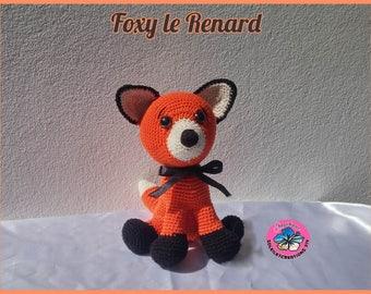 Foxy le renard - fait main au crochet