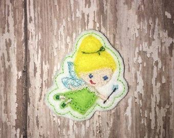 Set of 4 Green Fairy Princess Cutie Feltie Felt Felties Bow! Birthday Party Neverland Center Tinkerbell Tink Peter Pan Planner Clip