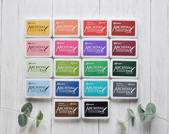 Ranger Archival Ink Pad - Dye Ink Pad - Craft Ink - Stamp Pad - Rubber Stamping