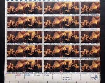 1976 Sheet of 50 July 4th 1776 US Postage Stamps, NH, OG with Free Shipping Sc #1691 - 1694