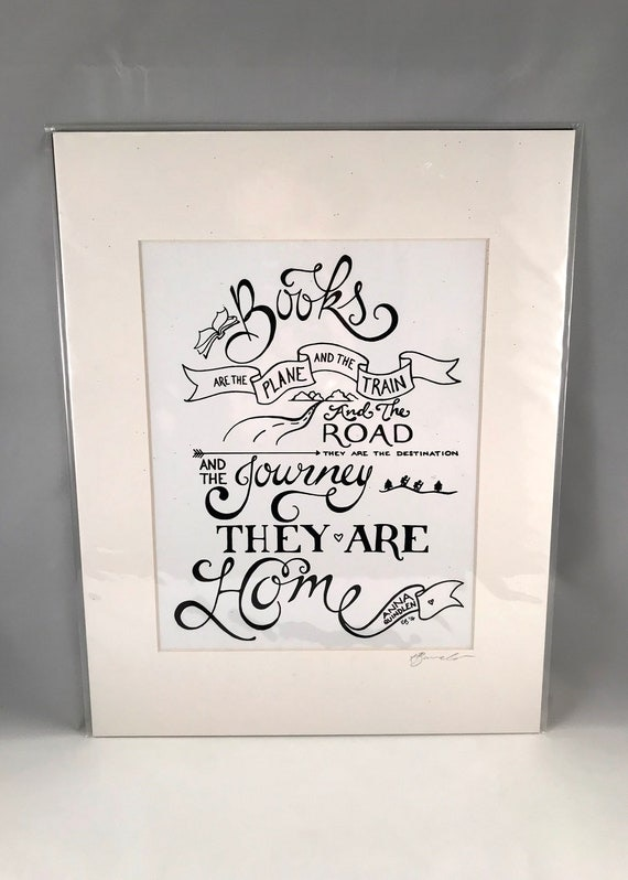 Hand Drawn Anna Quindlen Print   Hand Written Quote Signs   Home Decor   Gifts for the Home   Gift for Mom   Gift for Co Worker