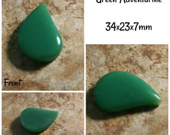 Green Adventurine 34x23x7mm