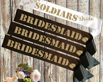 BRIDE SASH Military Bride Set