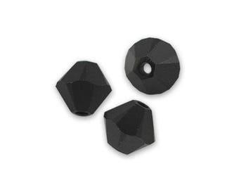 1 lot of 10 Swarovski bicones 6mm jet (black) Crystal bead