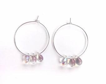 The teardrop earrings