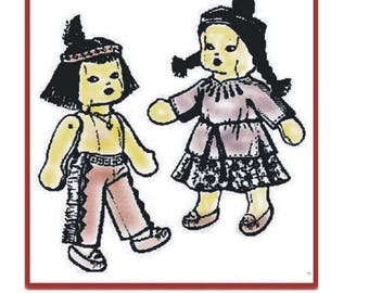 "Vintage Pattern for 16"" American Indian Dolls"
